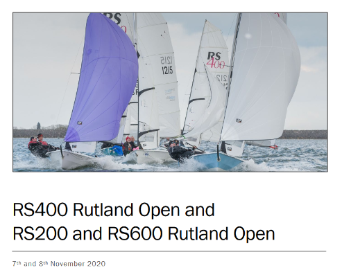 More information on Entry open for RS600 Rutland Open 8 Nov 20