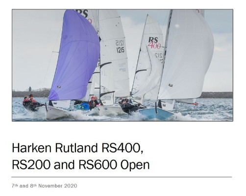 More information on Harken RS200, RS400 and RS600 Opens at Rutland SC next weekend 7-8 Nov!